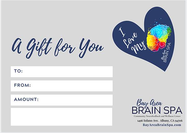 Bay Area Brain Spa Gift Card